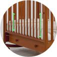 КУБАНОЧКА 2 (38.1) - детская кроватка качалка с выдвижным ящиком. (копия)