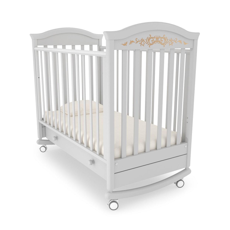 ФОТО: Детская кроватка-качалка Гандылян Даниэль Люкс Белая ночь